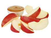 Apple Slices & Fat Free Caramel Dipping Sauce
